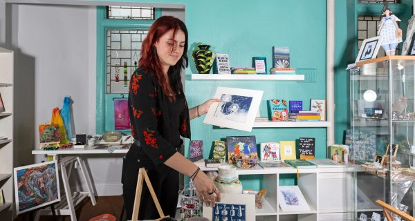 Antonia who runs the Town Hall Shop